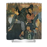 The Origins Of The Modern In Basque Shower Curtain