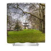 The Pagoda Battersea Park London Shower Curtain