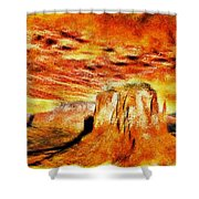 The Painted Desert Shower Curtain