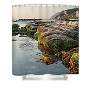 The Passetto Rocks At Sunrise, Ancona, Italy Shower Curtain