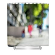 The People Walking On The Street During Day In The City Of Los A Shower Curtain