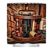 The Pipe Smoker Shower Curtain