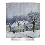 The Place Du Chenil At Marly Le Roi Shower Curtain