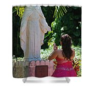 The Praying Princess Shower Curtain