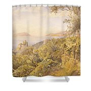 The Priest Garden Shower Curtain