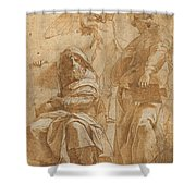 The Prophets Hosea And Jonah Shower Curtain