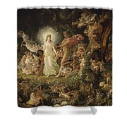 The Quarrel Of Oberon And Titania Shower Curtain
