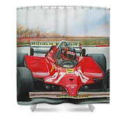 The Racing Car Shower Curtain