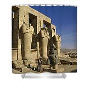 The Ramesseum Shower Curtain