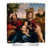 The Rest On The Flight Into Egypt With St. John The Baptist Shower Curtain