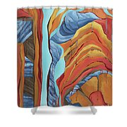 The Rocks Cried Out, Zion Shower Curtain by Erin Fickert-Rowland