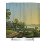 The Rose Island Shower Curtain