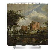 The Ruins Of Brederode Castle Shower Curtain