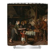 The Satyr And The Peasant Family Shower Curtain