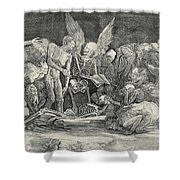The Skeletons Shower Curtain