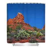 The Sphinx Rock Formation Shower Curtain
