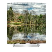 The Spring Pond Shower Curtain
