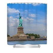 The Statue Of Liberty In New York City Shower Curtain