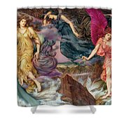 The Storm Spirits Shower Curtain