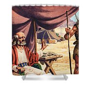 The Story Of Isaac Shower Curtain