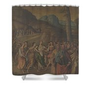 The Story Of Moses The Dance Of Miriam Shower Curtain