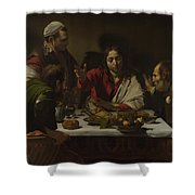 The Supper At Emmaus Shower Curtain