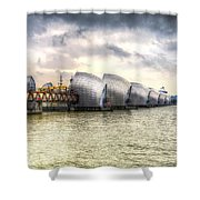 The Thames Barrier London Shower Curtain
