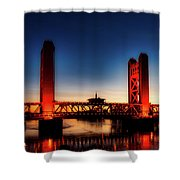 The Tower Bridge At Sunset Shower Curtain
