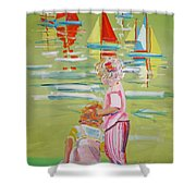 The Toy Regatta Shower Curtain