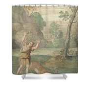 The Transformation Of Cyparissus Shower Curtain