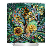 The Tree Of Desires Shower Curtain