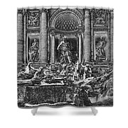 The Trevi Fountain  Shower Curtain