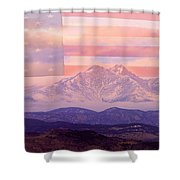 The Twin Peaks - 9-11 Tribute Shower Curtain
