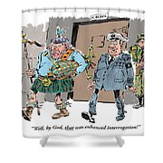 The Vacation At Gitmo. Shower Curtain