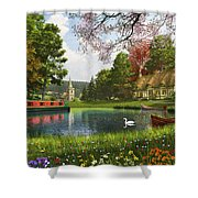 The Valley Cottage Variant 1 Shower Curtain