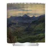 The Valley Of Saint-vincent Shower Curtain