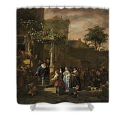 The Village Wedding Shower Curtain