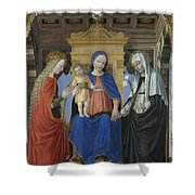 The Virgin And Child With Saints Shower Curtain