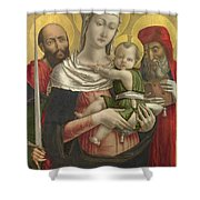 The Virgin And Child With Saints Paul And Jerome Shower Curtain