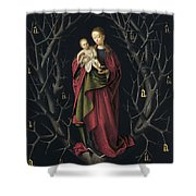 The Virgin Of The Dry Tree Shower Curtain
