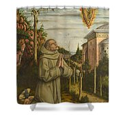 The Vision Of The Blessed Gabriele Shower Curtain