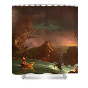 The Voyage Of Life - Manhood Shower Curtain