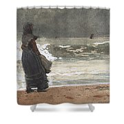 The Watcher, Tynemouth Shower Curtain