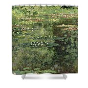 The Water-lilies Pond  Shower Curtain