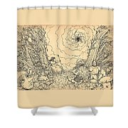 The Wave Of Time And Space Shower Curtain