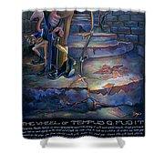 The Wheel Of Tempus Q. Fugit Shower Curtain