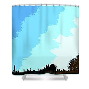The Wintering Way Shower Curtain