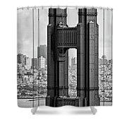 The World Famous Golden Gate Bridge In San Francisco, California Shower Curtain