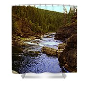 The Yak River Shower Curtain