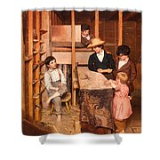 The Young Mechanic Shower Curtain